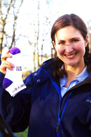 Claire won the socks at Ballarat!